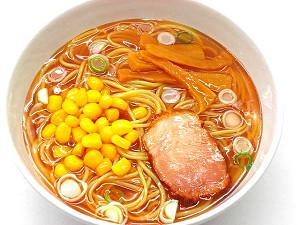 Муляж супа рамен с с кукурузой