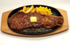 Муляж запечённой японской мраморной говядины с маслом