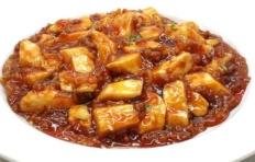 Муляж блюда «Мабо тофу»