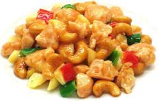 Муляж блюда «Курица, обжаренная с орехами кешью»