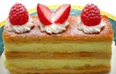 Муляж торта Mille-Feuille с клубникой и малиной