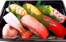 Муляж набора суши (с креветками)