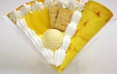 Макет блина «Яблоко с мороженым»