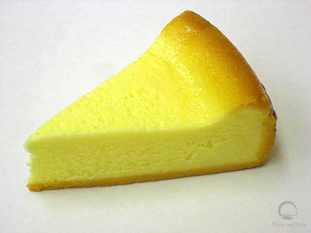 A replica of tanned cheesecake