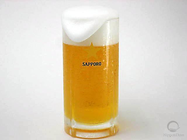 """Муляж кружки пива """"Sapporo"""" с пышной пеной (435 мл)"""