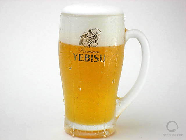 """Муляж запотевшей кружки пива """"Yebisu"""" (435 мл)"""