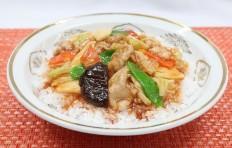 Муляж блюда «Рис с мясом и овощами»