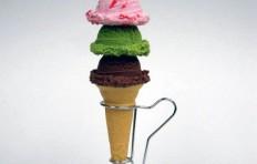 Муляж мороженого в конусе ассорти 2