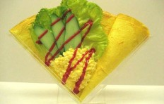 Макет блина «Салат из яиц и овощей»