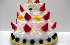 Муляж клубничного торта (25 см х 31 см)