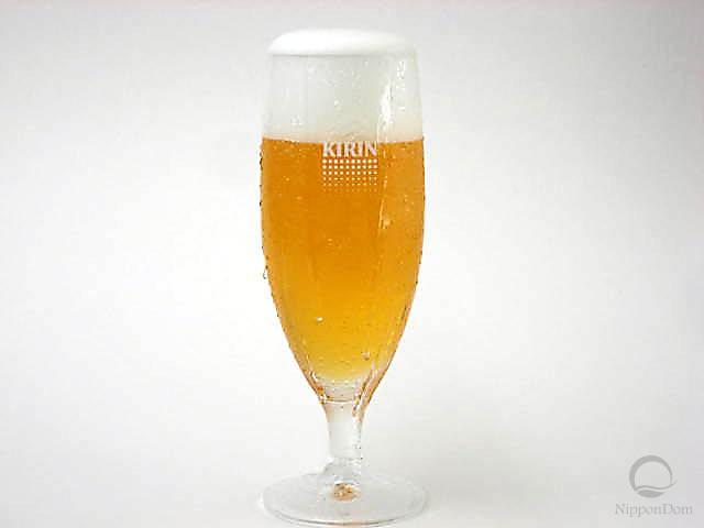 Муляж запотевшего бокала пива Kirin (360 мл)