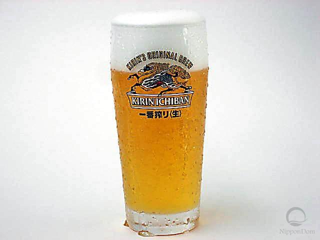 Муляж запотевшей кружки пива Kirin Ichiban (330 мл)