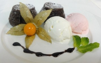 """Десерт """"Горячий шоколадный кекс"""""""