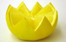Муляж половинки грейпфрута (70/ 120 мм)