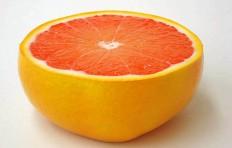 Муляж половинки красного грейпфрута (55/ 120 мм)