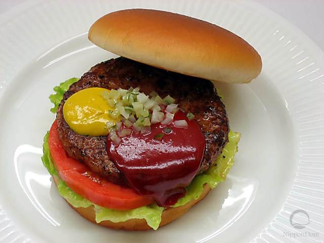 Муляж гамбургера