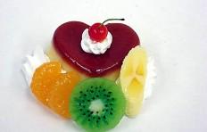 Муляж пудинга в форме сердца