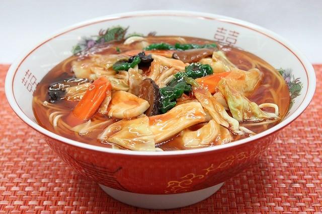 Муляж супа рамен с потрошками