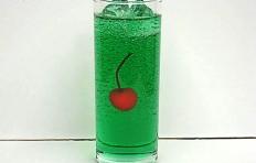 Муляж газировки со вкусом дыни (с вишенкой)