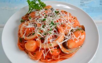"""Стоимость муляжа """"Спагетти с морепродуктами"""" 167 $"""