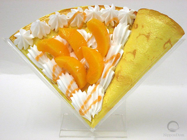 Персик со взбитыми сливками-2