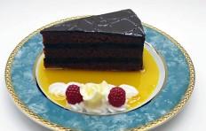 Макет кусочка шоколадного торта-1