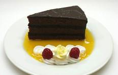 Макет кусочка шоколадного торта-2