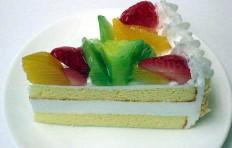 Муляж фруктового торта (105×55 мм)
