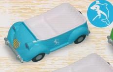 Тарелка-поднос «машина» (голубая)