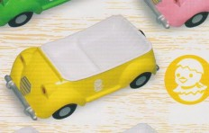 Тарелка-поднос «машина» (жёлтая)