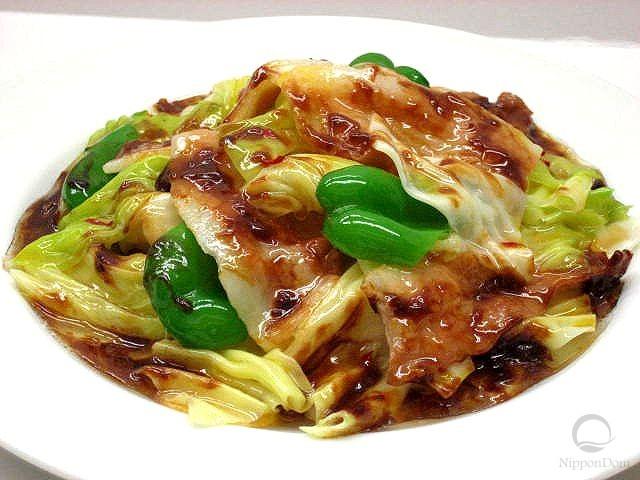 Муляж блюда свинина с капустой Хойкоро