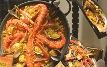 Ресторан «Paella». Витрина.