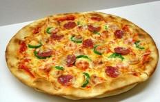 Муляж пиццы с салями и креветками (35 см)