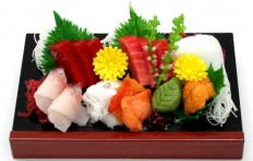 Макет доски с сашими