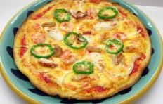Муляж пиццы с морепродуктами (25 см)