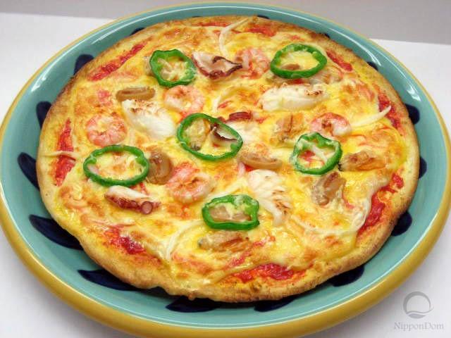 Муляж пиццы с морепродуктами