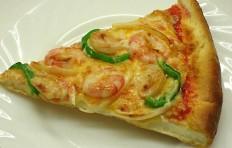 Муляж конуса пиццы с креветками