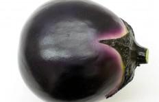 Муляж маленького круглого баклажана (100/ 87 мм)