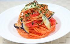 Муляж спагетти с баклажаном в томатном соусе-2