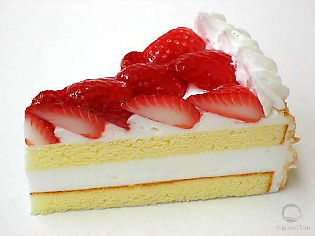 Муляж клубничного торта (110x60 мм)