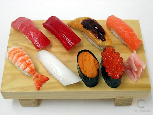 Муляж набора суши (8 шт)