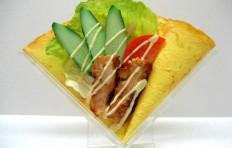 Макет блина «Салат с курицей и овощами»