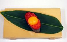 Макет тобико с желтком перепелиного яйца-2