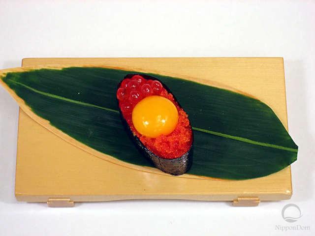 Тобико с желтком перепелиного яйца-2
