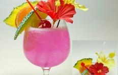 Макет тропического коктейля
