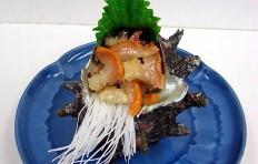 Муляж моллюска Тюрбан с листочком