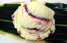 Муляж ванильного мороженого с черничным джемом (16)