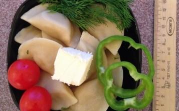 Вареники с овощами и зеленью