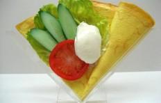 Муляж блина «Овощной салат  со сливочным сыром»